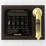 Weems and Plath Stormglass with Display, Brass
