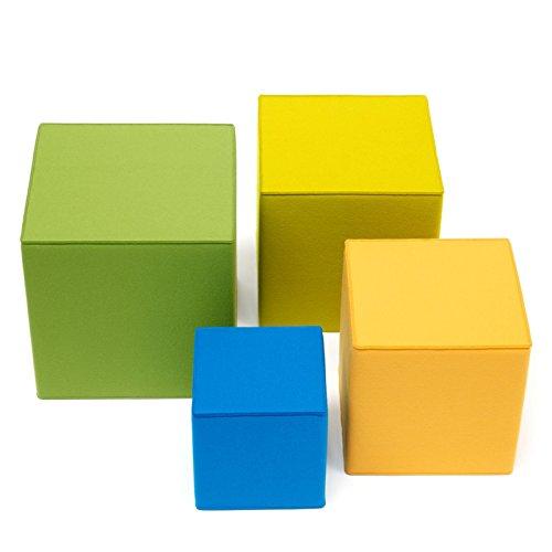 Sitzmöbel Filz quadratisch mit Schaumstofffüllung viele Größen + Farben Hey Sign QUART, Größe:40 x 40 x 20 cm;Hey Sign_Farbe:22 - Flieder