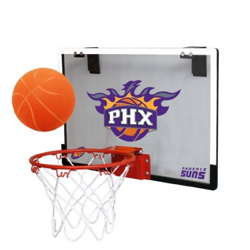 fan products of NBA Phoenix Suns Game On Indoor Basketball Hoop & Ball Set, Large, Purple