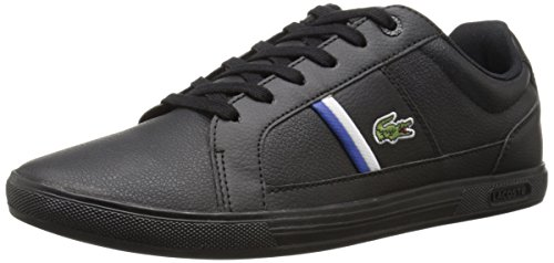Lacoste Mens Europa TCL Fashion Sneaker BlackBlack 10.5 M US