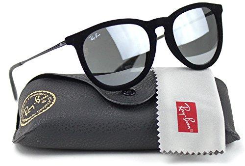 Ray-Ban RB4171 60756G Erica Sunglasses Velvet Black Frame / Grey Mirror - Velvet Ban Ray