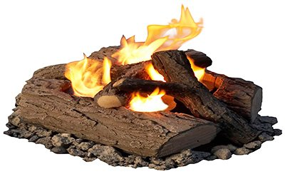 Real Flame 4-Can Outdoor Log Set by Real Flame