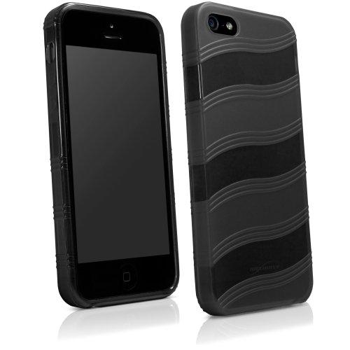 BoxWave Étui pour Apple iPhone 5/5S/5C Airwave Coque–slim fit Ultra Résistante en TPU avec motif à rayures élégant vague motif Apple iPhone 5s/5/5Coques et housses (Noir)