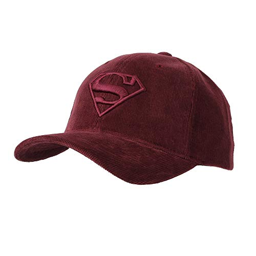 WITHMOONS Superman Shield Embroidery Baseball Cap Corduroy Hat AC11124 - Mens Corduroy Hat
