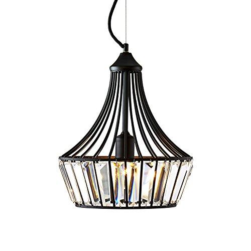 - Bronze and Crystal Chandelier Hanging Light Fixture, 12