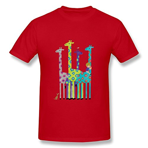 giraffe-boy-cotton-t-shirt-red-small