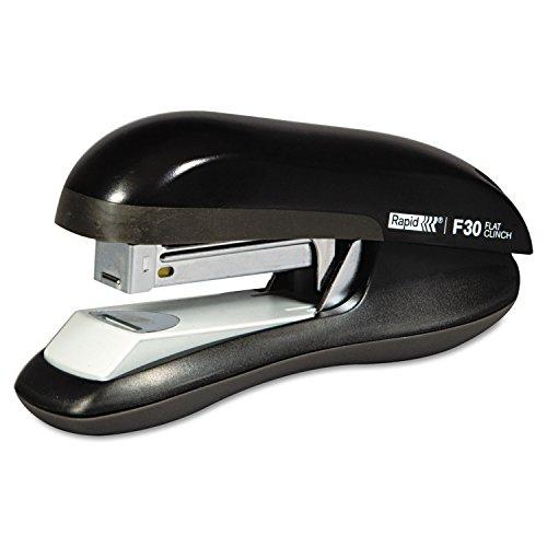 Flat Clinch Half Strip - Rapid 76082 F30 Flat Clinch Half Strip Stapler, 30-Sheet Capacity, Black