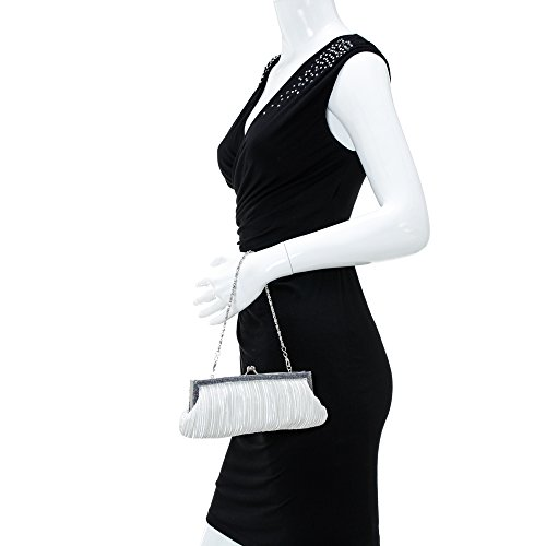 Bag 43191 Women Hard Fellini Silver For Bag Chain Evening Case Carlo Purse Cloud Nevaeh 71 fwt7qC