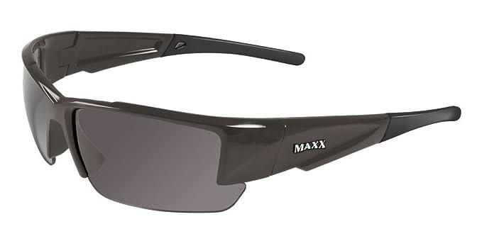 Amazon.com: Maxx Sunglasses Stealth 2.0 Dark Gray Frame with ...