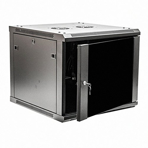 Navepoint 9U Deluxe IT Wallmount Cabinet Enclosure 19-Inch Server Network Rack With (Ht Wall Mount)