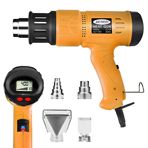 , Variable Temperature Heavy Duty Hot Air Gun, with LCD Display (Variable Temperature Electronic Heat Gun)