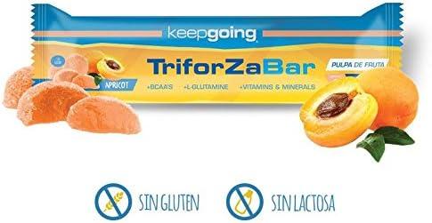 Keepgoing TriforZa Bar · Barritas energéticas · Caja de 24 uds. Apricot - 40 gr.