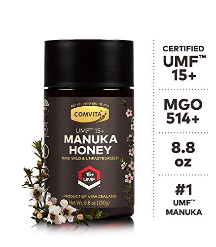 Comvita Certified UMF 15+ (MGO 514+) Raw Manuka Honey I New Zealand's #1 Manuka Brand I Authentic, Wild, Unpasteurized, Non-GMO Superfood I Super Premium Grade I 8.8 oz | Packaging May Vary
