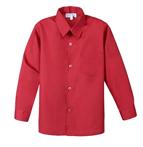 oys' Long Sleeve Dress Shirt 18M Red ()