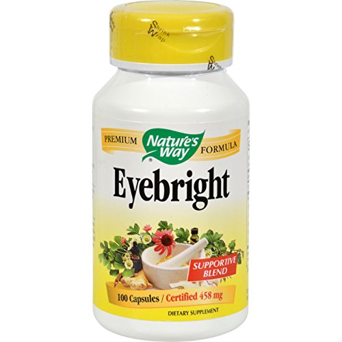 Natures Way Eyebright - 100 Capsules - Certified 458 mg - Supportive Blend