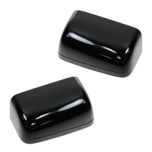 Mirror Caps Smooth Black Towing Pair for Ford F250 F350 F450 F550 Excursion