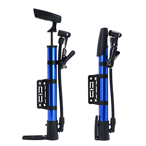 Startostar Mini Bike Pump, 2 Pack Portable Micro Hand Inflator,Fits Presta & Schrader Bicycle Tire Pump for Road, Mountain and BMX Bikes by Startostar