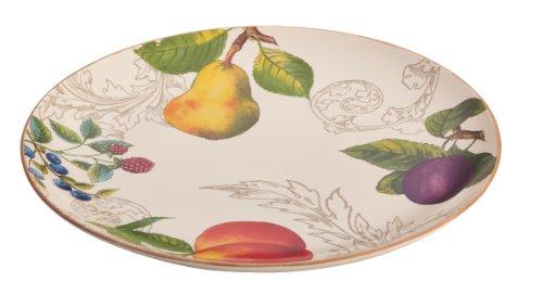 BonJour Dinnerware Orchard Harvest Stoneware 12-Inch Round Platter ()
