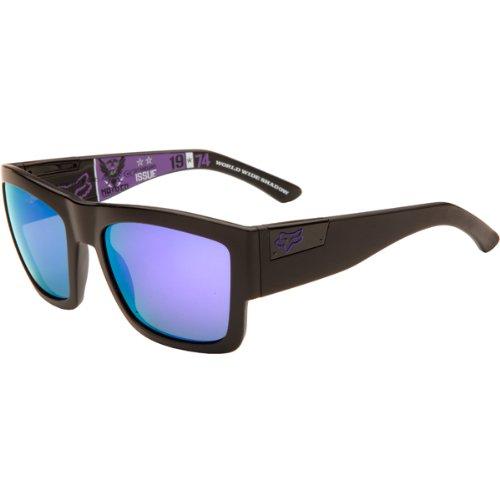 (Fox Racing The Decorum Adult Covert Ops Collection Designer Sunglasses/Eyewear - Matte Black/Violet Iridium / One Size Fits All)