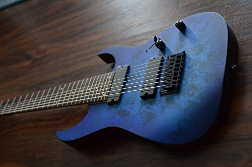 Home Comforts Canvas Print Metal Ibanez Rg8pb Blue 8 String Guitar Ibanez Vivid Imagery Stretched Canvas 32 x 24