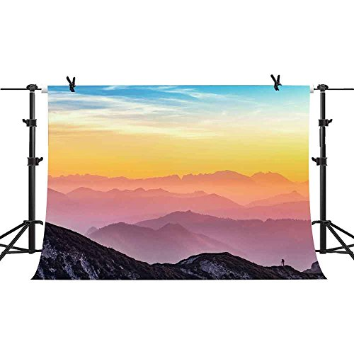 Natural Scenery Backdrop 7x5ft Mountain Photography Background Painting Artistic Photography YouTube Video Studio Backdrop Props PHMOJEN GEPH003 by PHMOJEN