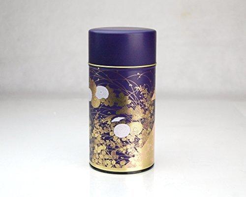 Shukanoen Japanese Green Tea Metal Tin [ Purple ]