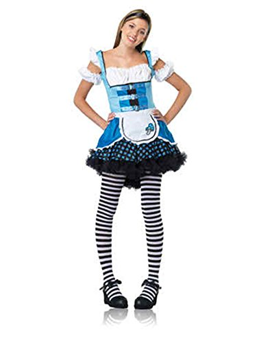 UHC Girl's Magic Mushroom Alice In Wonderland Teen Halloween Costume, Teen M/L (12-14) - Alice In Wonderland Cheap Costumes