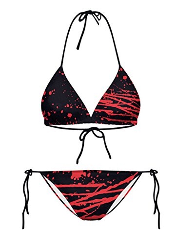Thenice donna moda sexy bikini set costumi da bagno Bloodsoaked