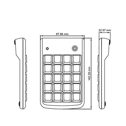 Perixx PERIPAD-201PLUS, Numeric Keypad for Laptop - USB - Tab Key Feature - Full Size 19 Keys - Big Print Letters - Black