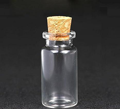 6pcs Cristal deseos botellas con Corchos Tope de Kleine Mini Botella de cristal Vasos Mensaje boda deseos joyas party favors Decora Ton Contenedor ...