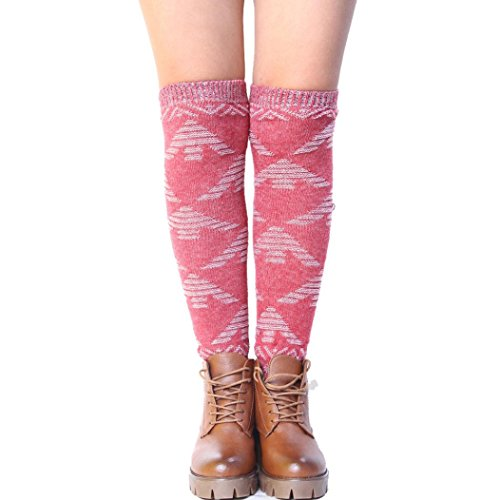 DEESEE(TM) Winter Women Tassel Brief Paragraph Leg Warmers Socks Boot Cover (Red) (Cowboy Boot Spats)