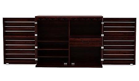 Ringabell Bistro Solid Wood Bar Cabinet (Mahogany Finish)