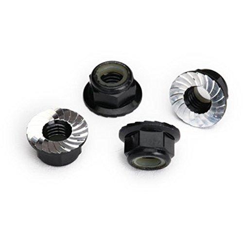 Traxxas 8447 Serrated Steel 5mm Flanged Nylon Locking Nuts, Black