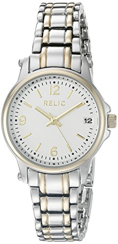 (Relic Women's Matilda Two-Tone Stainless Steel and Alloy Dress Watch, Color: Silver and Gold-Tone (Model: ZR34347))