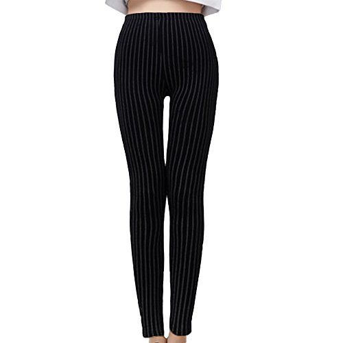 Wholesale DCOIKO Women's Cotton Skinny Stripe Leggings Pants free shipping