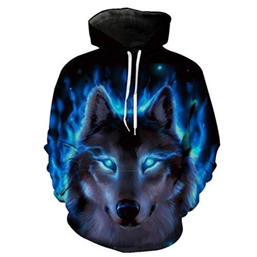 Uomini incappucciati Wolf Hoodies 3D Felpe di Alta Qualità Novità Pullover Slim maschio incappucciati 2018 DVFGBVG