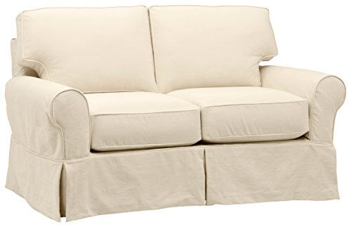 Fabric Slipcovered Loveseat - Stone & Beam Carrigan Modern Slipcover Sofa, 68
