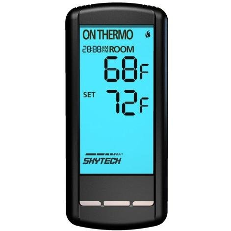 Skytech Millivolt Wireless On/Off With Thermostat Touchscreen Remote And Receiver - Sky-5301 by SkyTech