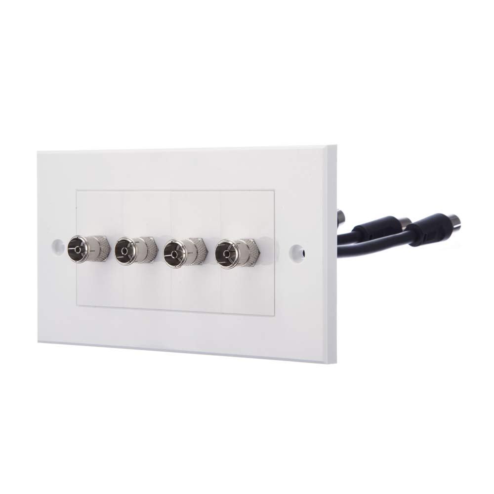 Computer Spares TV Aerial Faceplate/Wall Outlet 1 x TV Aerial Socket
