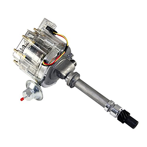 (Assault Racing Products 1435004 Chevy V8 HEI Distributor 50K Volt Coil HP Module Clear Cap with Tach Drive SBC BBC 350 454)