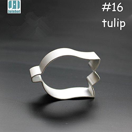 (1 piece 2015 New aluminium alloy tulip flower shape cookie cutter fruit/pudding/toast/vegetable cutter mold 5.5cm3.5cm1.7cm)