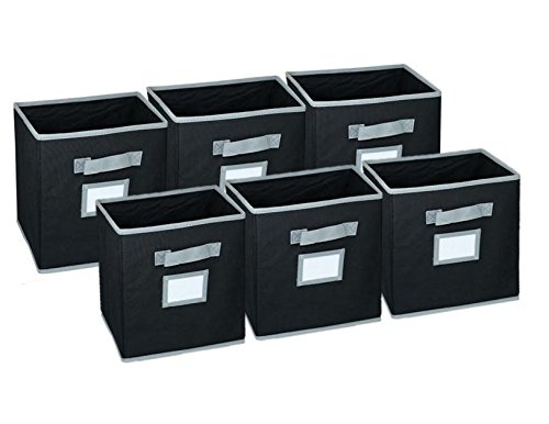 sale-hangorize-collapsible-fabric-cubicle-storage-bins-black-6-pack-with-handy-label-window-to-make-