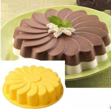 Rurah Sunflower Mold Silicone Mould Chocolate Cake Baking DIY Decorating Birthday Cake Molds ,2#