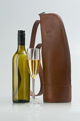 Luxury Wine Tote Travel Bag Leather Single Bottle Wine Bag