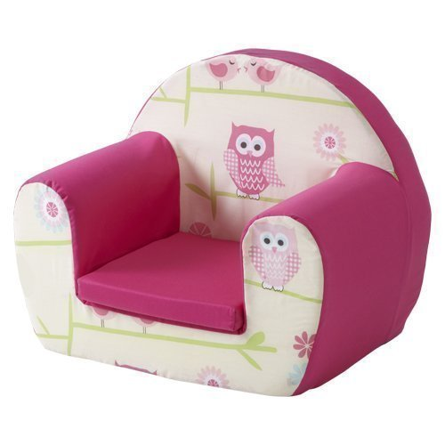Ready Steady Bed Childrens Toddlers Foam Armchair, Owls