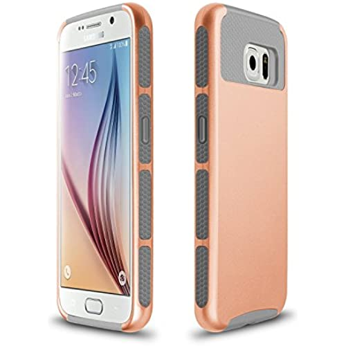 Xindayi Galaxy S7 Case,Shockproof Dual Layer Case TPU Hybrid PC Slim Hard Back Case Cover For Samsung Galaxy S7 G9300 (S7-rose gold+grey) Sales