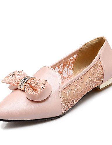 rosa mujer casual Beige Flats Ballerina azul beige eu36 5 talón de uk3 vestido us5 de cn35 zapatos señaló PDX Lace plano 5 Toe Zgt76g