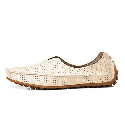 para Confortables Cordones con Beige de Hcwtx 0cm Barco Transpirables Gommino Talla 5cm Beige Azul 28 Mocasín Mocasines Zapatos Cuero de 23 Gommino Hombres Mocasín Zapatos Y4Oz6q4w