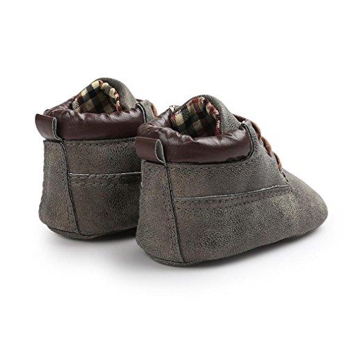 Tefamore calzado niño y niña de deporte de primeros pasos de antideslizante de solo suave de moda invierno de calentar Azul