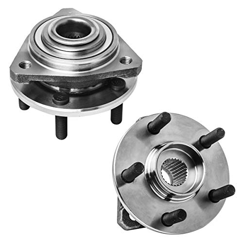 Front Wheel Hub and Bearing Assembly Left or Right Compatible Chrysler Cirrus Sebring Sedan Convertible Dodge Stratus Plymouth Breeze AUQDD 513138 x2 [ 5 Lug ]